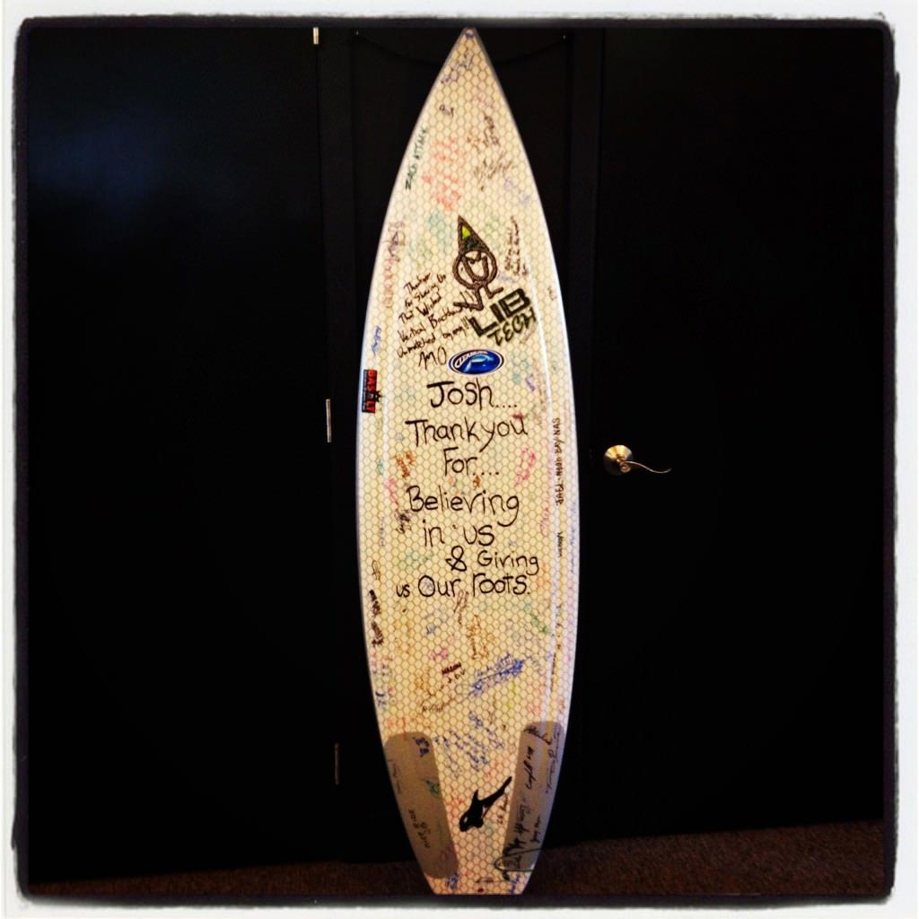 Lib Tech Surfboard Signed by the Lib Tech crew