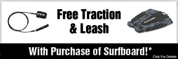 Free Leash and Traction Pad - Surfboard Deal