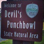 Devil's Punchbowl Sign